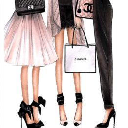 poster filles sac chanel