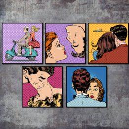 Cartoon pop-art