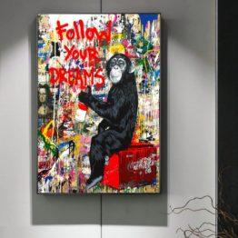Chimpanzé street art