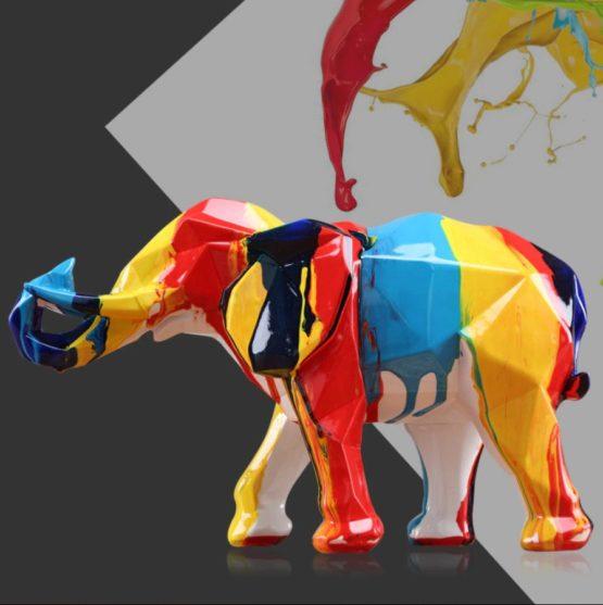 elephant multicolore