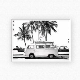 mini van noir et blanc