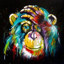 chimpanzé pop-art