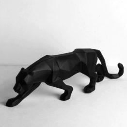léopard noir en résine