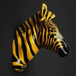 buste de zebre jaune