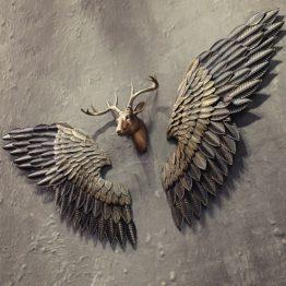 sculpture paire d'aile en métal