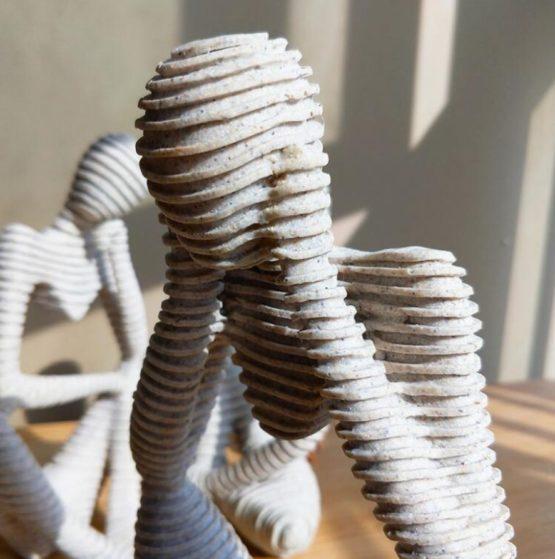 bonhommes de sable sculpture